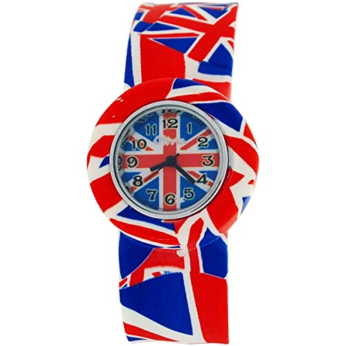 The Olivia Collection Union Jack Slap Uhr, Silikon-Armband Mehrfarbig