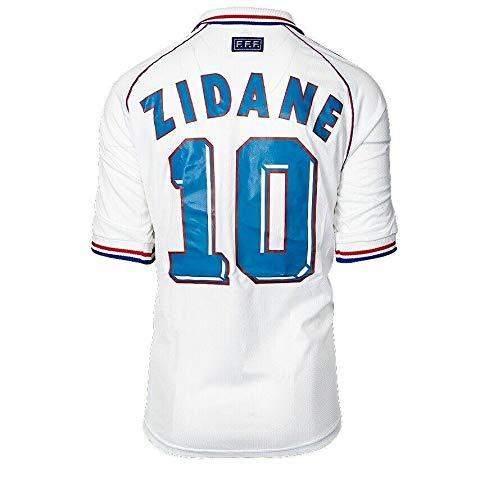 UNSIGNED Zinedine Zidane France 1998 Away Shirt Autograph Jersey - Autographed Soccer Jerseys