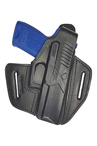 VlaMiTex B19 Funda de Pistola de Cuero, para el cinturón, para Pistolas USP Compact P10 / HK P2000