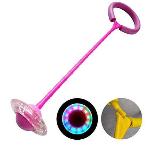 Faviye Skip Ball Kinder Blinkender Springring Sport Jumping Ball lustiges Spielzeug für Kinder und Erwachsene