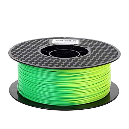 1/0.5/0.25kg Colour Changeable PLA, 1.75mm 3D Printer Filament, Using Temperature Sublimation Material,3D Printer Accessories (Color : Green to Yellow 1kg)