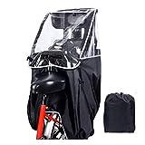 MeeShirer 自転車の後部座席のレインカバー、チャイルドシートのレインカバー、自転車の後部座席の子供用雨具、透明な雨具、携帯のレインカバー、収納袋を持っています