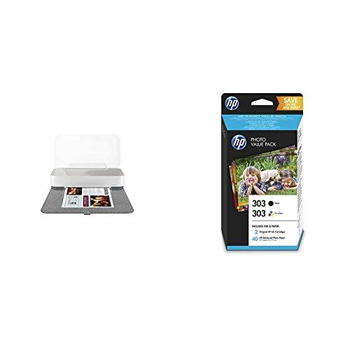 HP Tango X Stampante a Colori, Wi-Fi, Multifunzione per Dispositivi Mobile, Stampe, Scansioni e Copie & 303 Value Pack Z4B62EE Cartucce Originali per Stampanti HP a Getto di Inchiostro