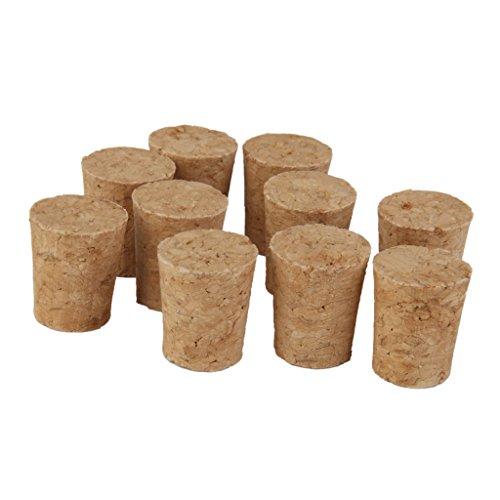 Daily Mall Tapones de Corcho rústico para Botellas de Vino, corchos, Tapones para Tapones de barbería, Bricolaje, Manualidades