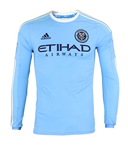 Adidas New York City FC 2016 Authentic Long Sleeve Home Jersey [Light Blue] (M)