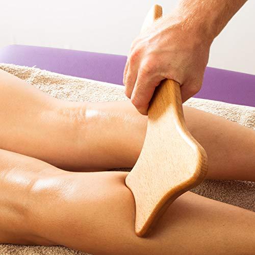 Tuuli Accessories Anti Cellulite Massage Massagegerät Maderotherapie aus Holz 33 x 16 cm