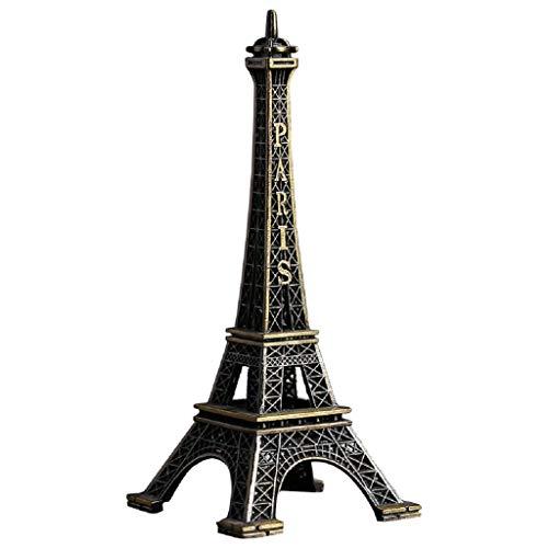 Gpzj Well-Goal Bronze Tone Paris Eiffel Tower Figurine Statue Vintage Model Decor Alloy 25cm
