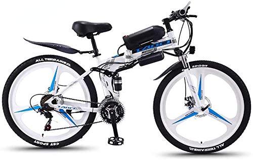 LBYLYH Plegables Eléctricos Bicicletas De Montaña para Adultos 350W Nieve Ciclismo, La...
