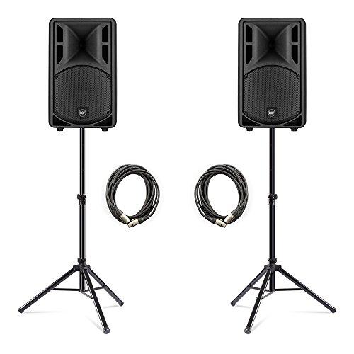 RCF ART 310A Active MK4 Lautsprecher, 25,4 cm, 800 W, inkl. Ständer und Kabel, 2 Stück