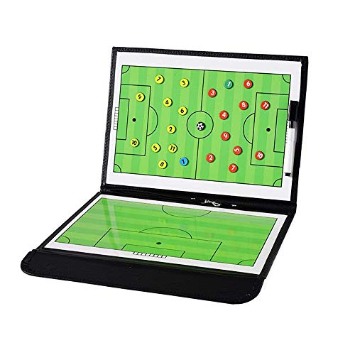 TTSHOP Tablero táctico Tablero de fútbol magnético Tablero de Estrategia de Entrenamiento de fútbol con bolígrafo con Cremallera portátil Pieza de ajedrez magnética Plan de tácticas Equipo d