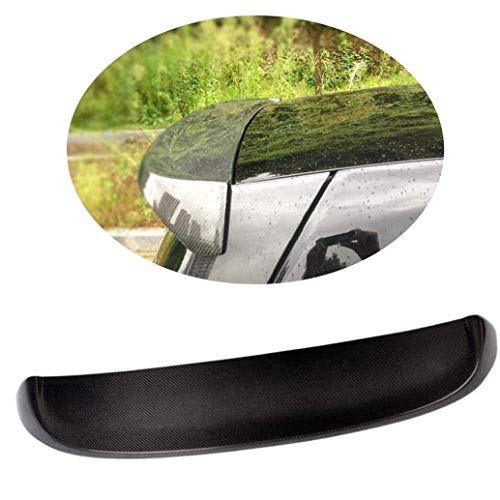 QTCD Auto Heckspoiler für Mercedes Benz Smart Fortwo 2008-2013, Dachfenster Top Wing Lip Kit Carbon Faser Außendekoration