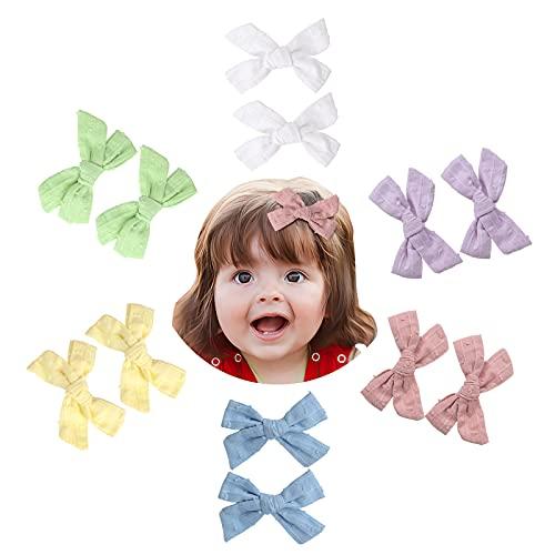 Makone Schleife Haarspangen 12 Stück, süße Kinder Haarspangen mit Jacquard Design, Candy Color Weiche Haarschmuck für die tägliche Dekoration für Baby Mädchen Kleinkinder Kinder