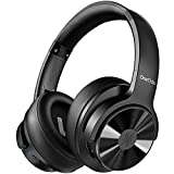 Active Noise Cancelling Headphones, OneOdio A30 Wireless Wired Headset Bluetooth 5.0 Over Ear Headphones with Microphone, HI-FI Stereo Deep Bass 45H Playtime for Travel Work-Black