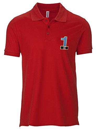 Moschino Herren Poloshirt Gr. L, rot
