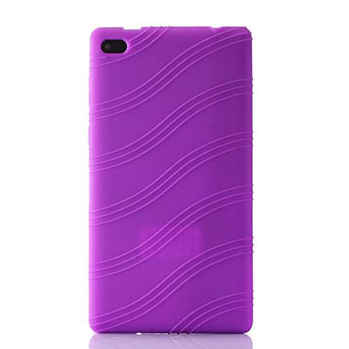 Oneyijun Púrpura Suave Silicona Piel Bolsa Proteccion Caso Protector Cubrir Funda para Lenovo Tab 7 Essential TB-7304X/I/F/N 7.0 Pulgadas Tableta