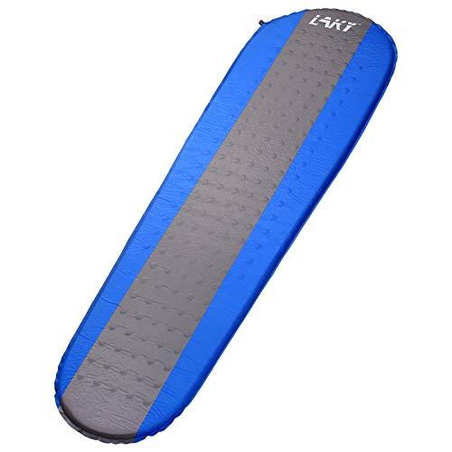 LAKY - Colchoneta autoinflable para acampada, 1,5 pulgadas, ligera, mejor almohadilla de espuma para mochileros, senderismo, inflable, duradero, cómodo y compacto