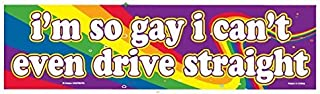 I'm So Gay I Can't Even Drive Straight - Flexible Car Auto Bumper Magnet - Hilarious!