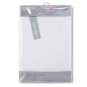 Pirulos Protector Colchón para Mini Cuna de Bebé/Protector de Colchón e Impermeable Anti Ácaros, Medidas 50x80cm Color Blanco