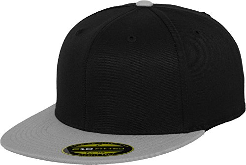 Flexfit Erwachsene Mütze Premium 210 Fitted 2-Tone, Blk/Gry, S/M, 6210T