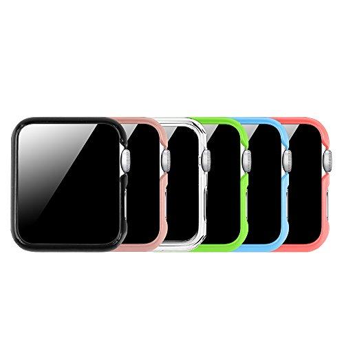 FINTIE [6 Pezzi] Custodia per Apple Watch 42mm, Ultra Sottile Rigida Protettiva Case Cover per all Versions 42mm Apple Watch Series 3 (2017) / Series 2 / Series 1 / Original (2015)