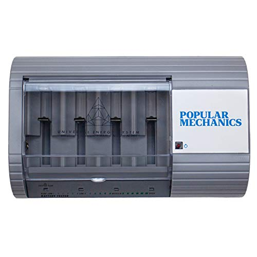 Popular Mechanics Battery Recharger - Disposable & Rechargeable Battery Charger for AAA, AA, C, D, N, 6V or 9V Batteries