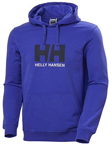 Helly Hansen HH Logo Hoodie Capuche Homme, Royal Blue, FR : S (Taille Fabricant : S)