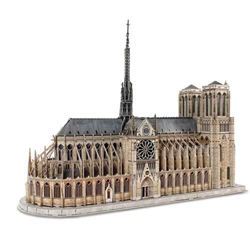 JJSFJH Antes de accidente Francesa Notre Dame Fuera de la construcción del Modelo de Papel del Rompecabezas Rompecabezas y Juegos