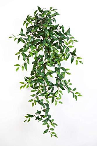 PARC Network - Kunstpflanze Tradescantia Fluminensis, Steckstab, grün, 105cm - Kunst Tradescantia - Künstliche Ranke - Deko Pflanze Tradeskantie