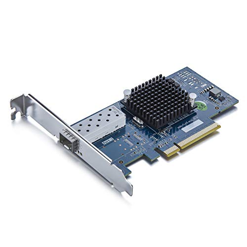 10Gb PCI-E NIC Network Card, Single SFP+ Port, PCI Express Ethernet LAN Adapter Support Windows Server/Linux/VMware, X520-10G-1S-X8