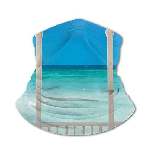 JONINOT Halsschutz Schal Winddichte Maske-Coastal Decor Malediven Tropic Ocean Cuban...