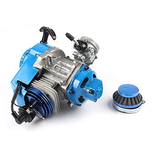 Motor de enfriamiento de aire de 2 tiempos 49cc con c7 bujías de carreras carbutor (Color : Blue)