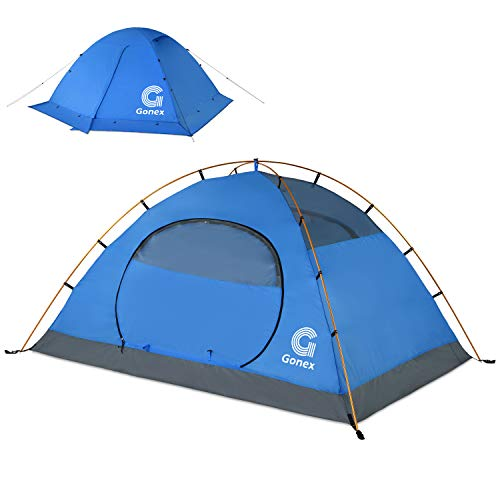cold weather tents for campings Gonex Camping Tent, 2 Person Dome Tent Windproof & Waterproof Winter Tent for 3 Seasons, Perfect for Camping, Hiking, Backpacking & Mountaineering, Easy Set Up