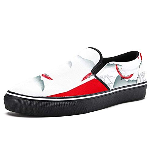 Laufschuhe für Damen Sunset Crane Fashion Sneakers Mesh Atmungsaktiv Wandern Tennis Schuhe, Mehrfarbig - mehrfarbig - Größe: 37 EU