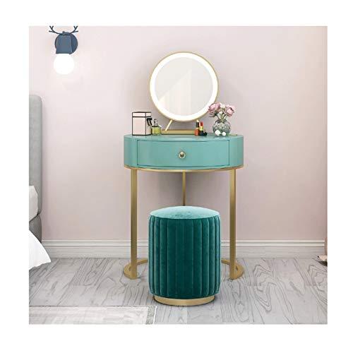 RKRXDH Tocador Escritorio Mueble para Maquillaje De Dormitorio Tocador con Espejo para Un Maquillaje For La Niña Tocador (Color : Green, Size : 65cm)