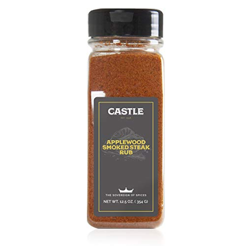 Castle Foods | Apple-wood Smoke Steak Seasoning, 12.5 oz Premium Restaurant Quality