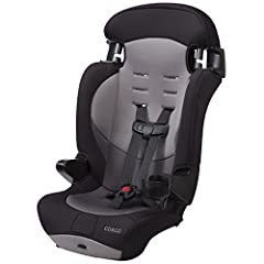 The Cosco Finale DX 2 in 1 Combination Booster Car Seat features a 5 point safety harness that converts to a belt positioning booster seat as your child grows, IIHS Best Bet rating for use in booster mode With extended use in both of its 2 modes, thi...