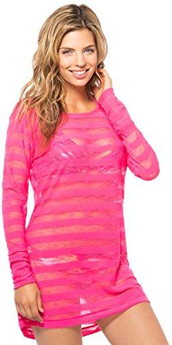 Oakley Swim Women W-L/S Tech Mesh Tunic Coral Pink Clothing M