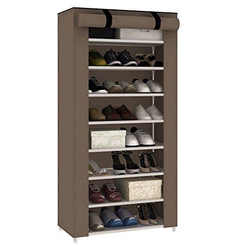 AllRight Schuhregal 10 Ebenen Schuhständer Schuhablage Stecksystem Schuhschrank Schuhe