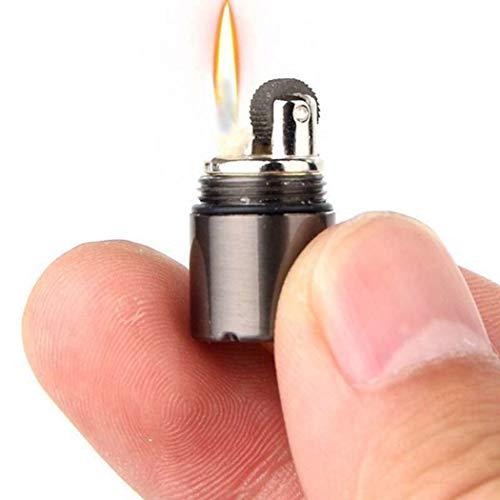ByMutlu Neu * Sturm Feuerzeug Survival Camping Mini Outdoor Magnesium Benzin Feuerstein Survival Taschenfeuerzeug