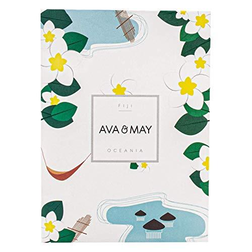 AVA & MAY Fiji Duftsäckchen (75ml) – Handgemachtes Duftsäckchen für Kleiderschrank, Schubladen oder Duft fürs Auto mit Neroli, Bitterorange und Eukalyptus
