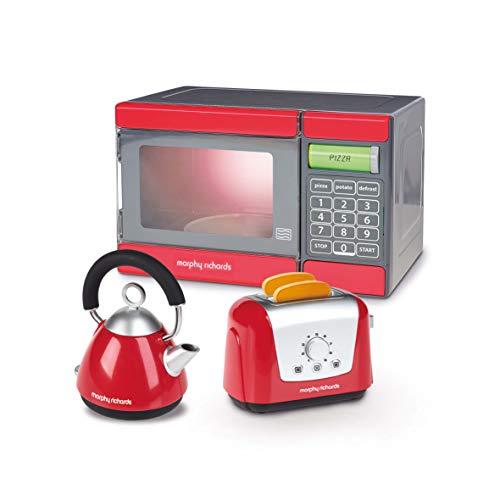 Casdon PLC Morphy Richards Mikrowelle, Wasserkessel und Toaster – Spielzeug (rot/grau)