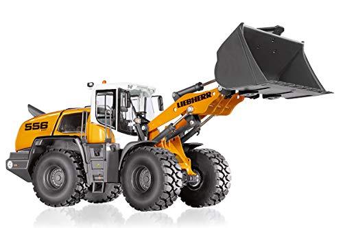 Wiking 077840 Liebherr Radlader L 556, Modellfahrzeug, 1:32, Metall/Kunststoff, Ab 14 Jahre, Viele Funktionen, Ladearm mit realistischen Bewegungsabläufen, Frontladerwechselsystem