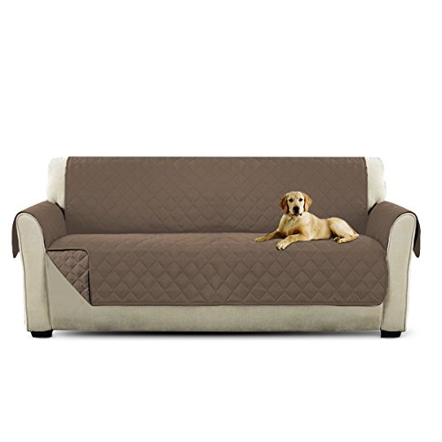 PETCUTE Lujo Cubre Sofa Fundas de Sofa 3 plazas Protector de sofá para Mascotas Marrón Claro
