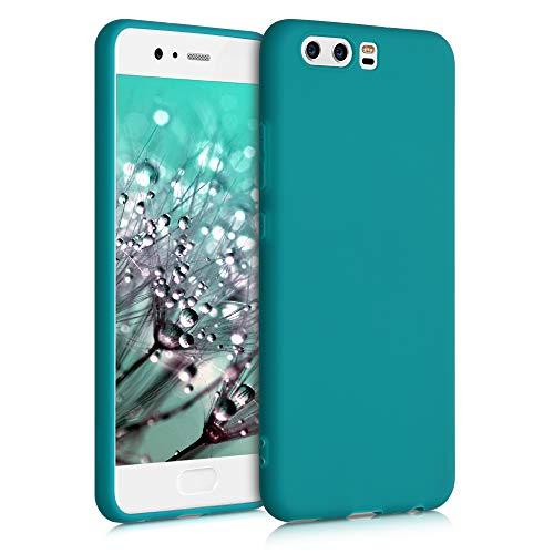 kwmobile Carcasa para Huawei P10 - Funda para móvil en TPU Silicona - Protector Trasero en petróleo Mate