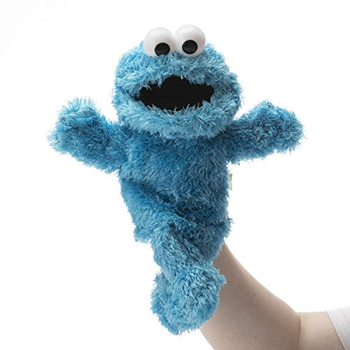 RONIAVL The Muppets Movie Soft Stuffed Plush Toy Sesame Street Cookie Monster Hand Puppet,Blue Monster