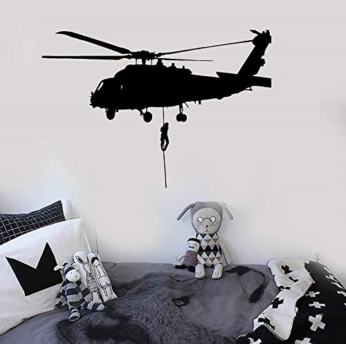 WERWN Vinilo Adhesivo para Pared Air Force Helicopter Military Vinyl Art