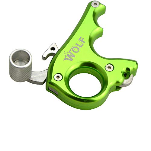 ZSHJG Archery Bow Release for Compound Bow Thumb Release Trigger Archery 3 Finger Button Bow Release Aid Grip Compound Bow Accessories (Green)