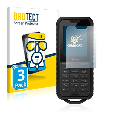 BROTECT Panzerglas Schutzfolie kompatibel mit Nokia 800 Tough (3 Stück) - 9H Extrem Kratzfest, Anti-Fingerprint, Ultra-Transparent