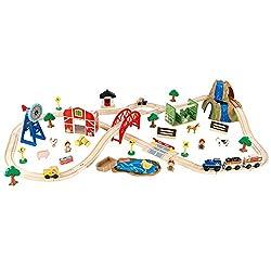 train sets, inexpensive train set, wooden train sets, farm play sets