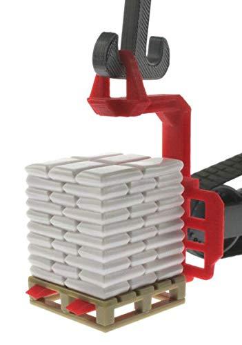 Einhänge-Palettengabel für Siku Control 32 Liebherr Bagger 6740 mit Verladehaken